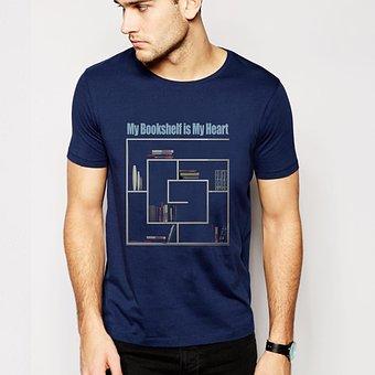męski t-shirt z nadrukiem