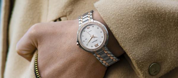 damski szwajcarski zegarek